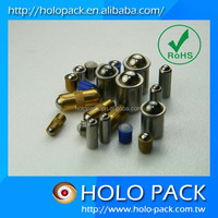 Ball and spring set screw mini solenoid plungers