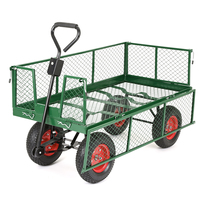 Heavy Duty Mesh Metal Garden Wagon