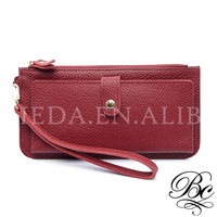 BELLUCY Smart Big Capacity Red Leather Wallet