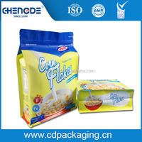 Custom gravure printed dried food packaging plastic laminating pouch with zipper