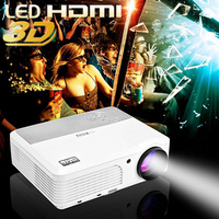 High lumens mini portable 3D projector mobile phone for home and education