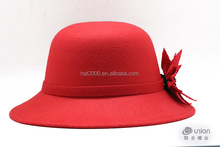 Womens wide brim wool felt hats for ladies