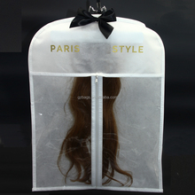 Custom size zipper hair extension hanger bags