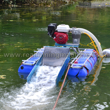 Gold quality small sand dredging boat 4 Inch dredge with engine,pump options and 3 stage sluice