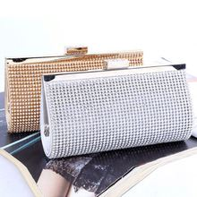 Customized logo luxury crystal clutch bag