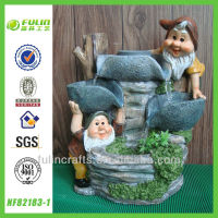 Creative Stone Pumps Gnome Resin Water Fountain