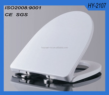 HY2107 Duroplast SS304 quick release soft closing square toilet seat cover