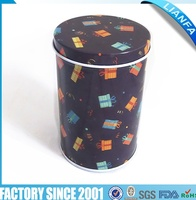 round shape gift tin can