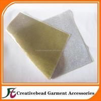 Wholesale shining rhinestone crystal sheet heat transfer glued backing rhinestone mesh iron on crystal trimming sticker