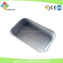 Smooth wall aluminum foil tray for food packing & storage in the airplane