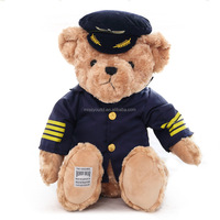 custom plush toy dressed teddy bear cheerleader teddy bear