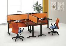 2014 best selling orange 2 person office desk workstation for small office