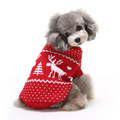 Christmas knitted patterns cloth accessories in china pet dogs sweater