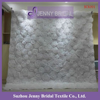 BCK091 organza flowers backdrop pipe and drape for wedding