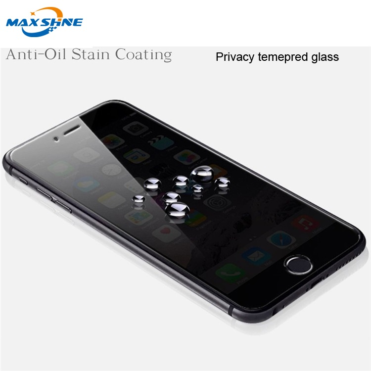 wholesale factory Price Mobile Phone Accessories Privacy Screen Protector For iPhone 8 Anti spy Screen Protector