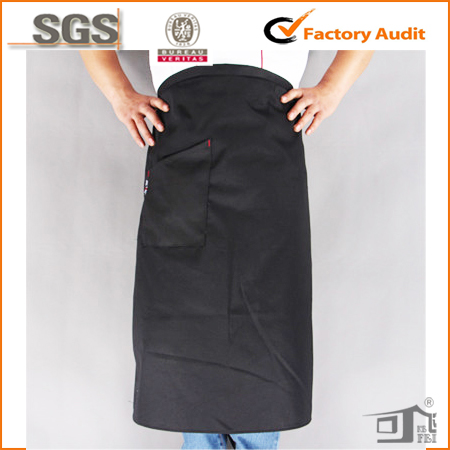 cotton long salon waist apron with one pocket wholesale