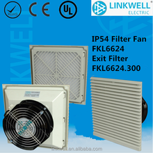 china heat resistant Ac/dc fan with filter for electrical control panel