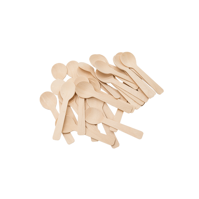 Wooden birch spoons and fork set