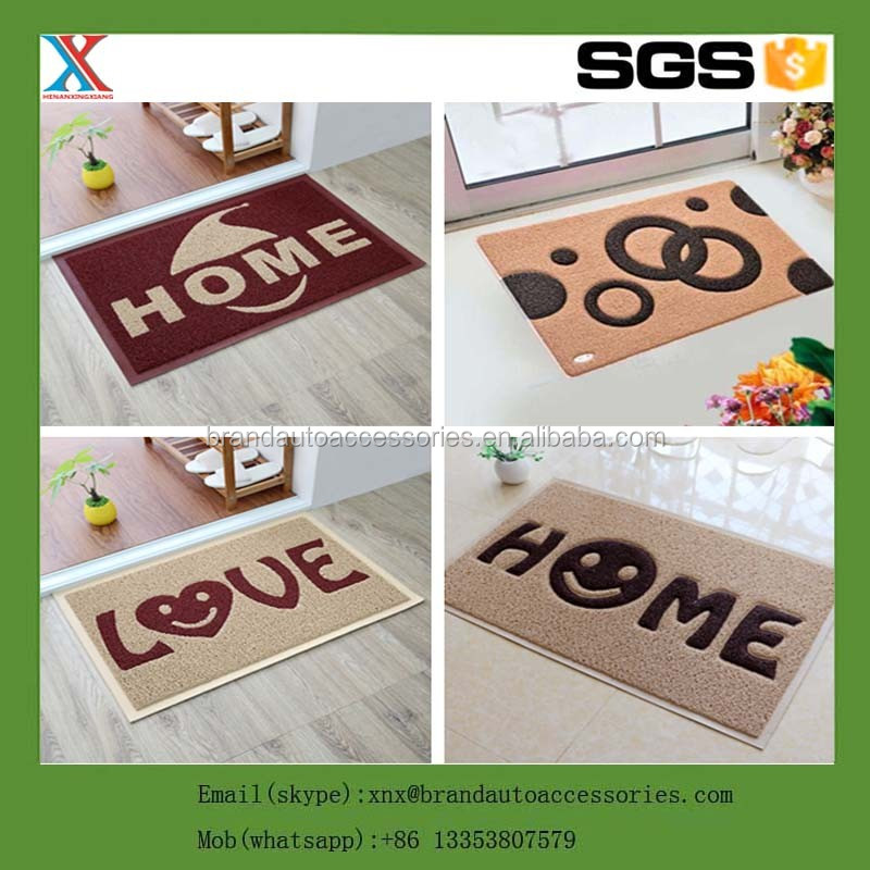 easy cleaning hot sale microfiber entrance pvc compoud water <strong>absorbing</strong> door mat