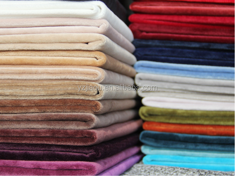 STOCK FABRIC HOT SALE Free Samlpe made in china 100% Polyester 1.5 Soft short pile plush velboa fabric for making soft toys