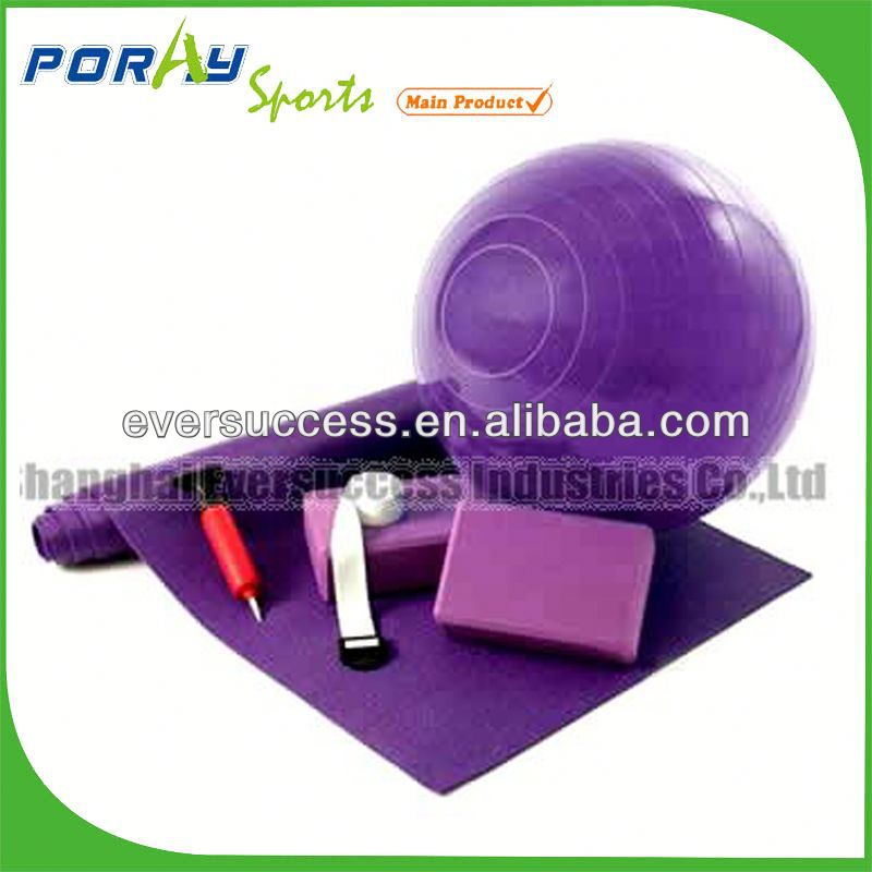 pilates yoga kits / yoga mat set(ball/ strap/ block)