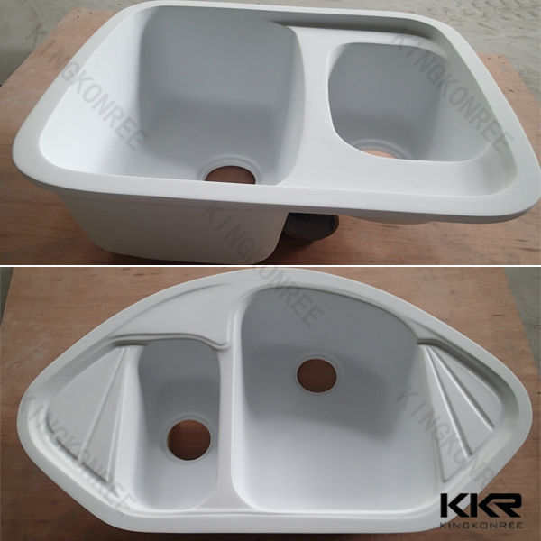 Modern acrylic solid surface utility sink buy utility for Solid surface kitchen sink