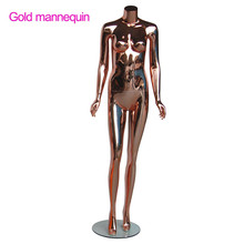 adults age fiberglass material gold lingerie female mannequin for window display