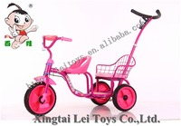 Hot Baby ride on car for twins double seats tricycle kids trike children car carrier walker color wheel baby bicycle tricycle