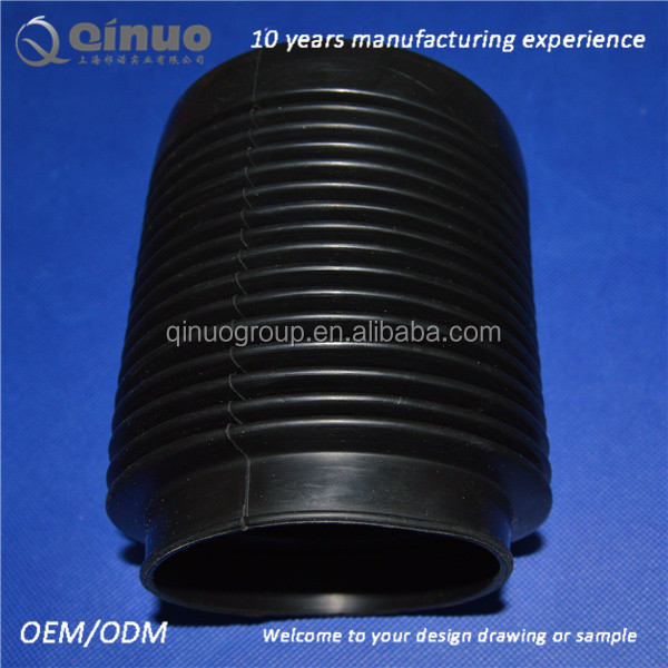 custom black flexible silicone rubber bellows coupling for oil /tube