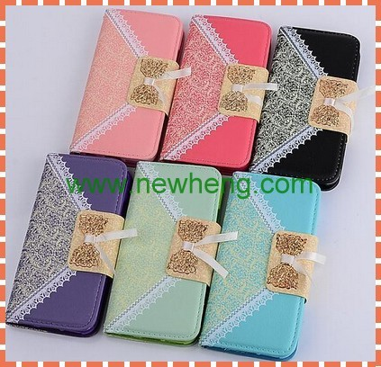 pouch leather lace bow case for lg g3