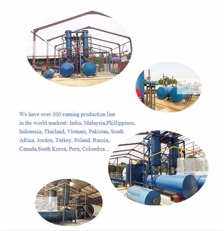 High oil output waste plastic pyrolysis machine to fuel oil