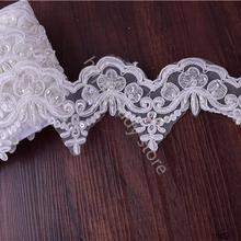 Hot seller beaded trims wholesale elegant beaded embroidery lace