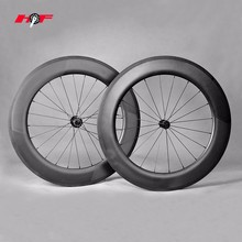 OEM manufacturing carbon 700c racing road bike wheels 86mm clincher tubeless wheelset