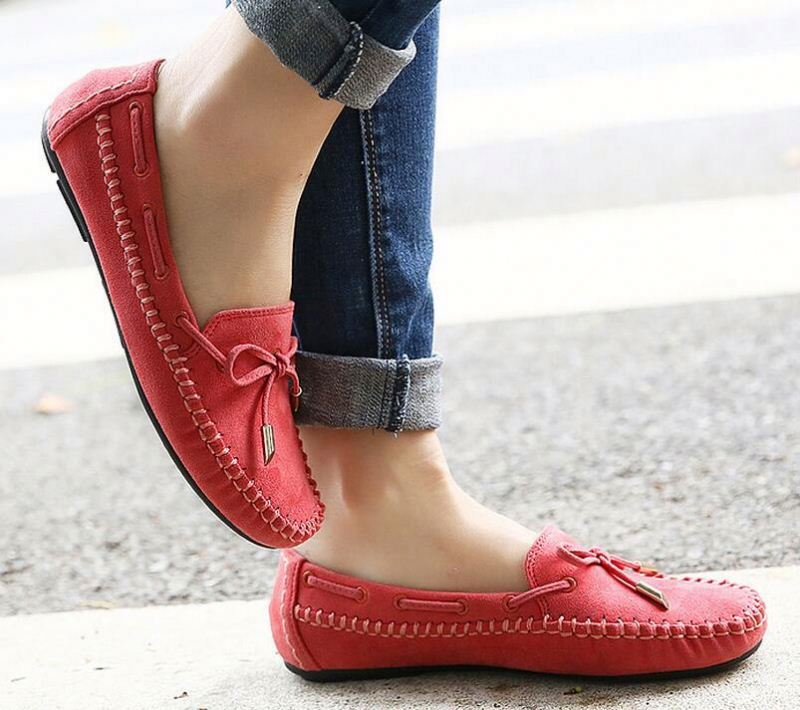 Women Loafers Lady Ballerina Flat Shoes Woman Summer Flats Comfortable Soft Genuine Leather shoes