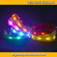 LED Nylon light lamp Pet Dog Collar Night Safety LED Light-up Flashing Glow in the Dark DC-2504A