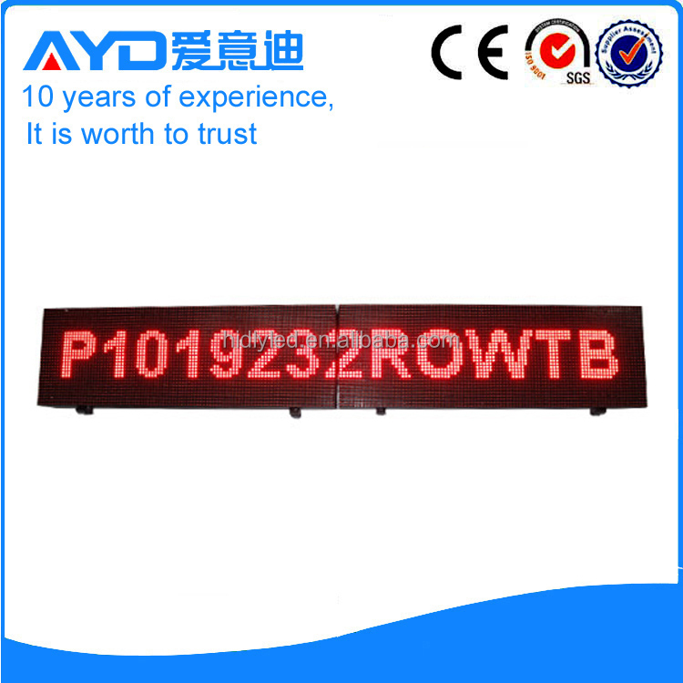 Low coast programmed electronic sign board led moving message display factory supplier