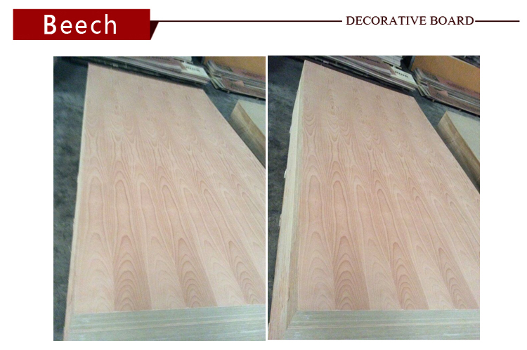 Red beech veneered mdf/ply wood