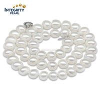 button sterling silver white jewelry hot sale freshwater pearl necklace