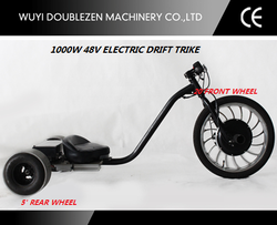2015 hot sale 1000W Sliding Tricycle 3 wheel Electric Drift trike for adults