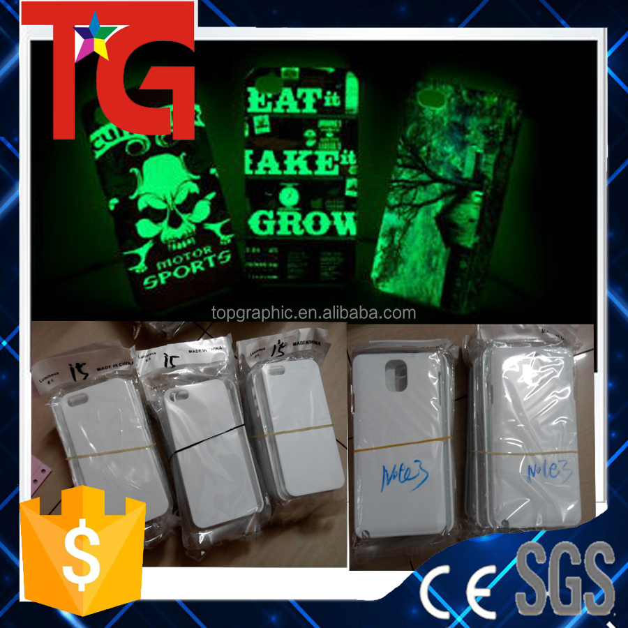 sublimation blank glow in the dark mobile phone case for iP 4/5/6/6 PLUS ,S3./4/5/ note 2 /note 3