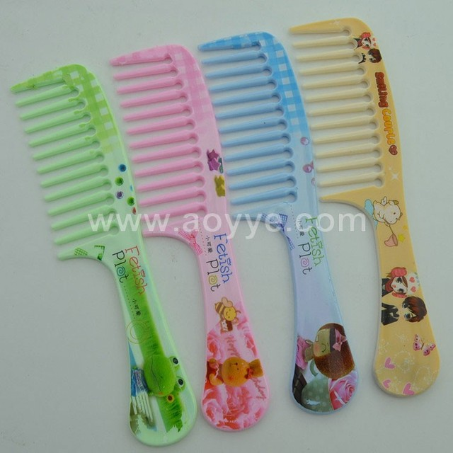 Cheap wholesale stock easy cleaning big tooth plastic hair comb