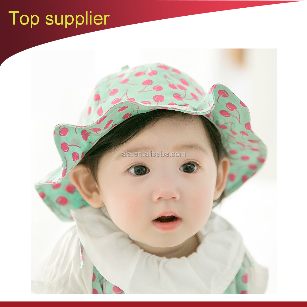 summer embroidered cotton OEM sun visor full funny baby bucket cap hats