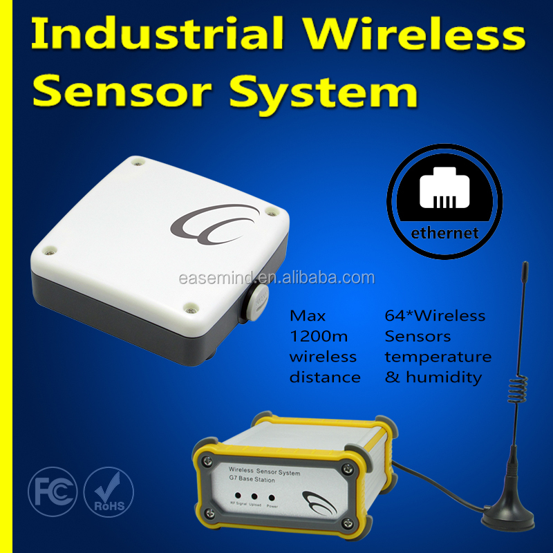 Industrial Wireless Sensor System temperature controller z-wave gsm thermostat hygrometer with data logging