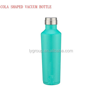 Double wall coal shape Thermos Vacuum Insulated 17oz/500ml Stainless Steel Hydration Bottle,