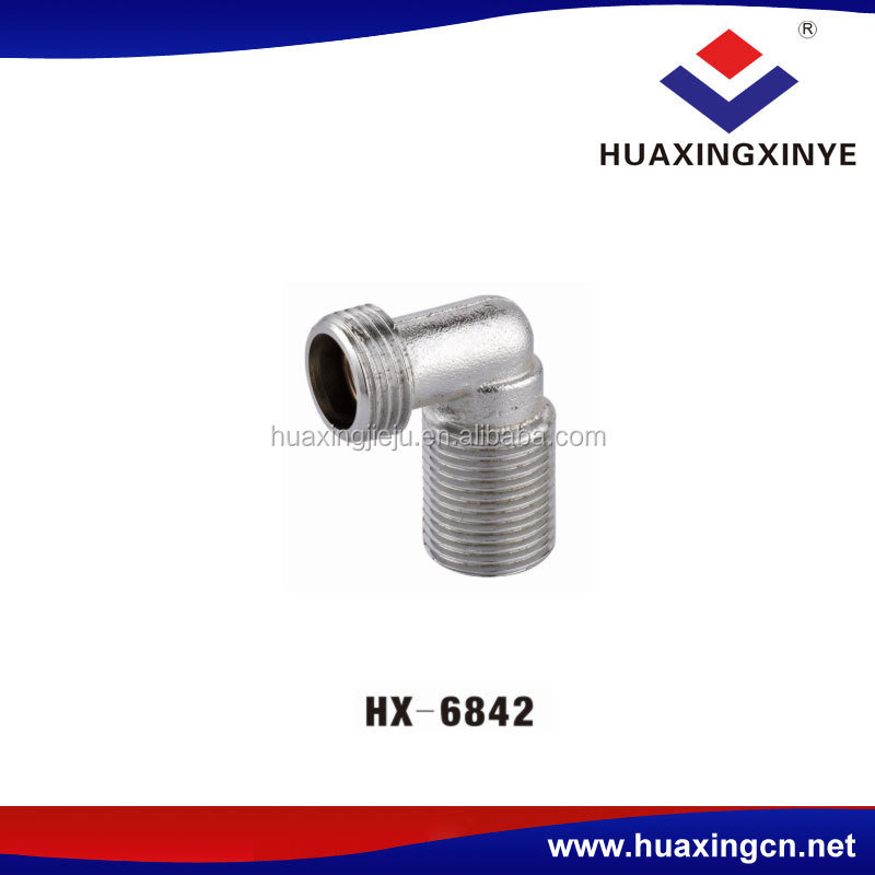 Hot sales cheap quality threaded copper elbow fitting pipe HX-6842 conversion adapter connector