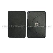 2013 new fashionable Rotating Stand book style leather case for ipad mini