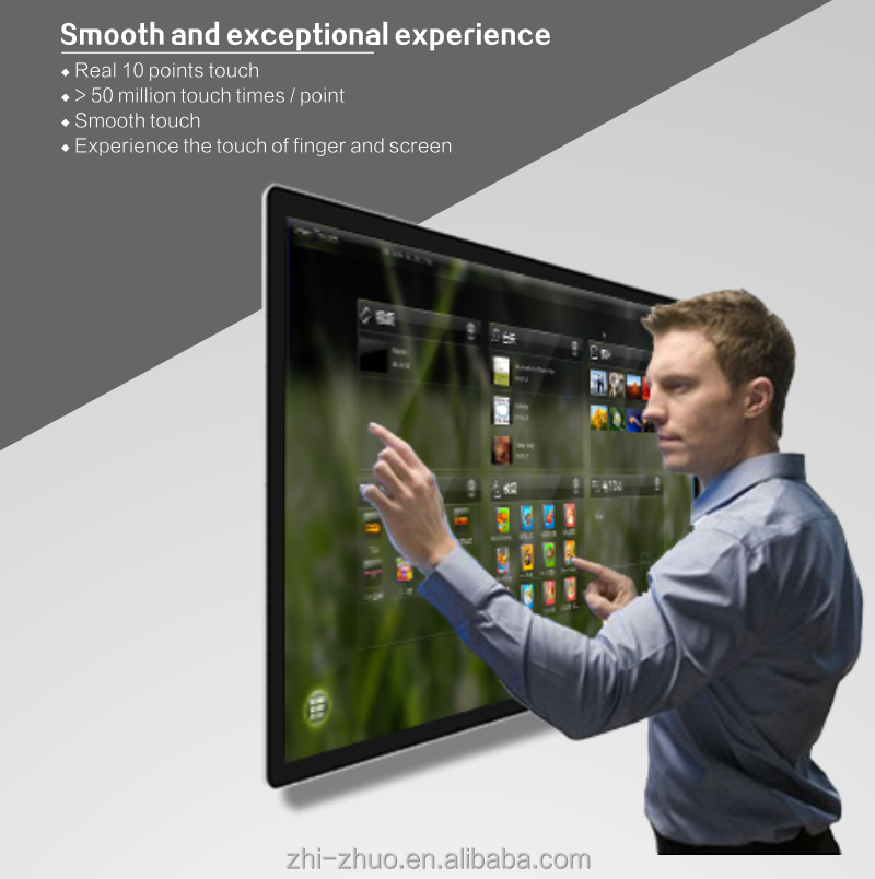 Touch wall mounted kiosk , advertising display