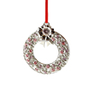 14K White Gold Plated Metal Xmas Ornament with Crystals from Swarovski