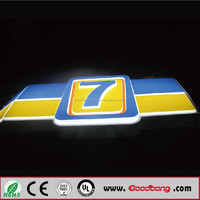 High quality flashing acrylic resin LED business open sign