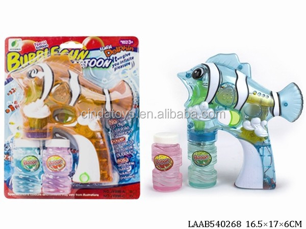 High material grade Electric Led fish bubble Gun wholesale